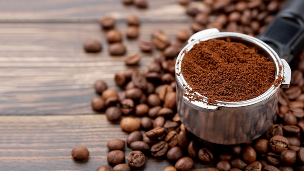Vista de primer plano del concepto de café