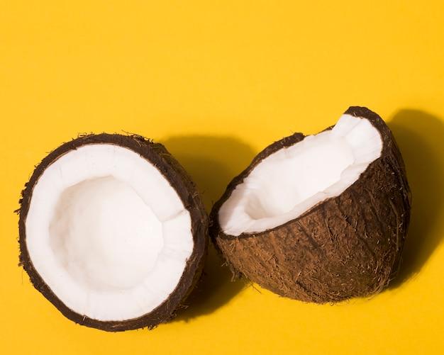 Vista de primer plano del concepto de coco