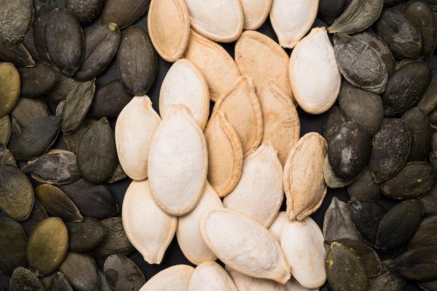 Vista de primer plano de semillas de calabaza