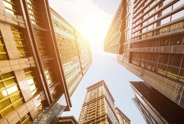 Vista de rascacielos