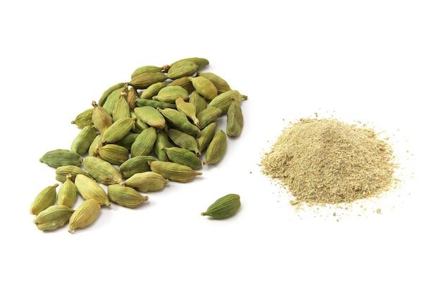 Vista de las semillas de cardamomo