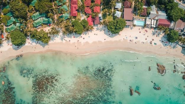 Vista de silver beach en la isla de koh samui