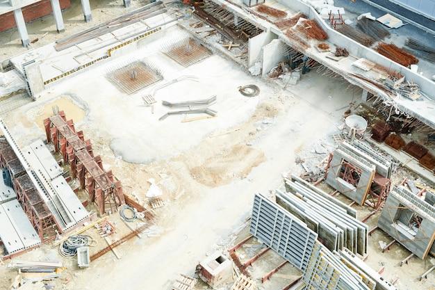 Vista del sitio de construcción