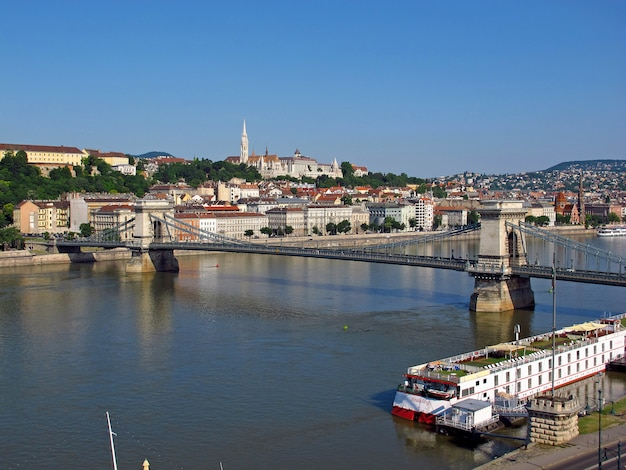 La vista sobre la ciudad de budapest, hungría