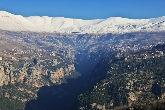 La vista sobre el valle de kadisha, líbano
