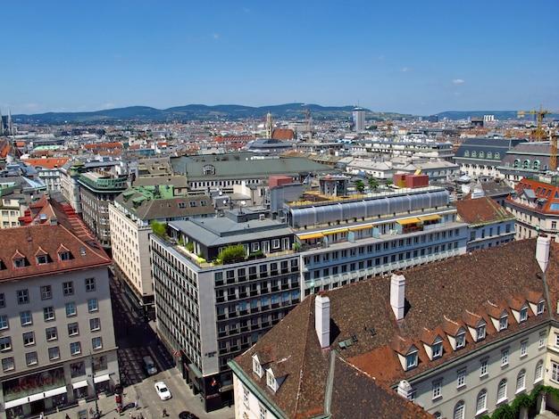 La vista sobre viena, austria