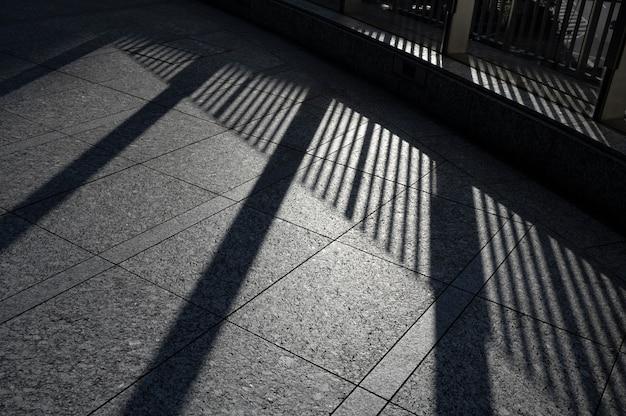 Vista de sombras diurnas al aire libre abstractas
