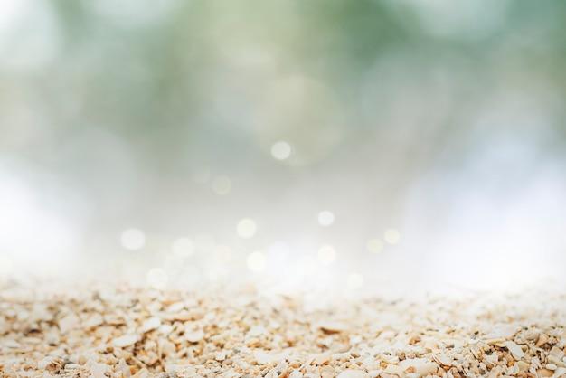 Vista de suelo granulado rodada en estilo bokeh