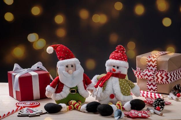 Vista superior adornos navideños
