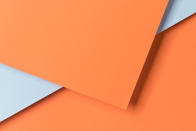 Vista superior armario de papel