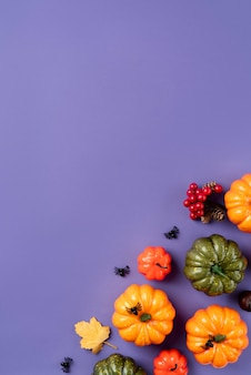 Vista superior arreglo creativo de halloween