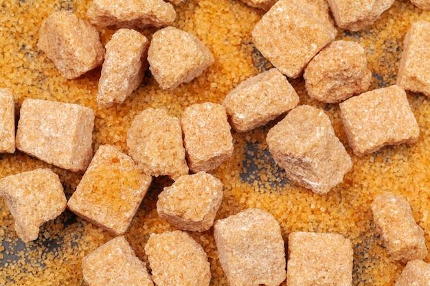 Vista superior de azúcar de roca