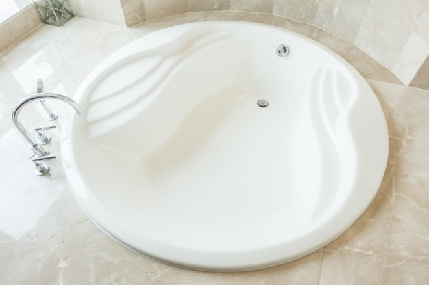 Vista superior de bañera moderna