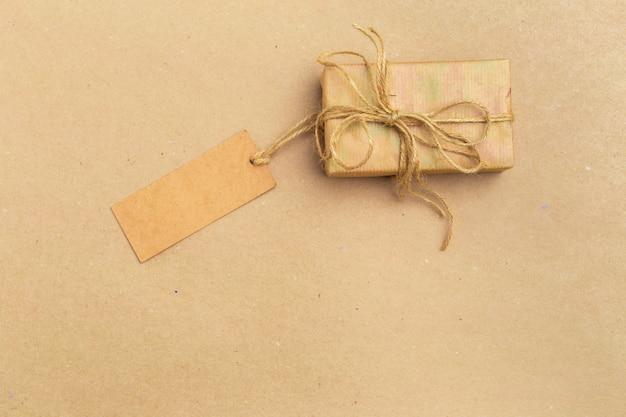 Vista superior de caja de regalo
