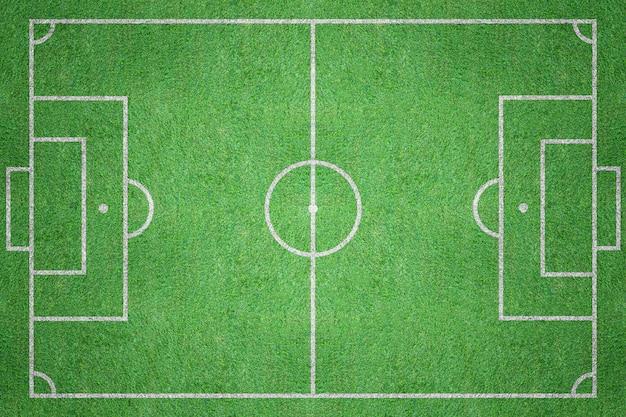 Vista superior del campo de fútbol hierba verde campo