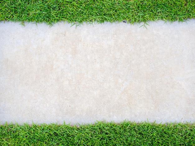 Vista superior del césped de textura.