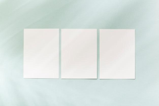 Vista superior colección de concepto de tarjetas de visita