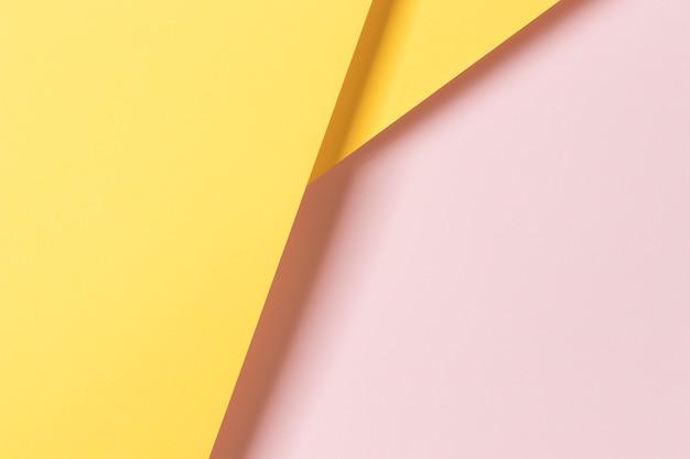 Vista superior colorido adorno de armario de papel