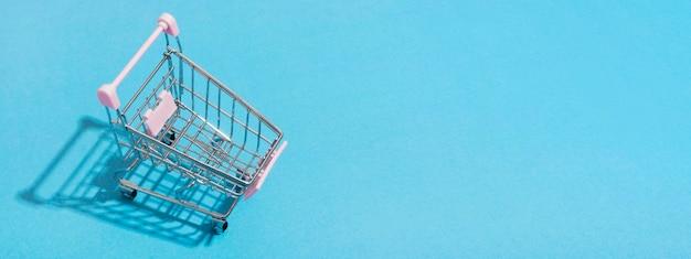Vista superior del concepto de compras en línea