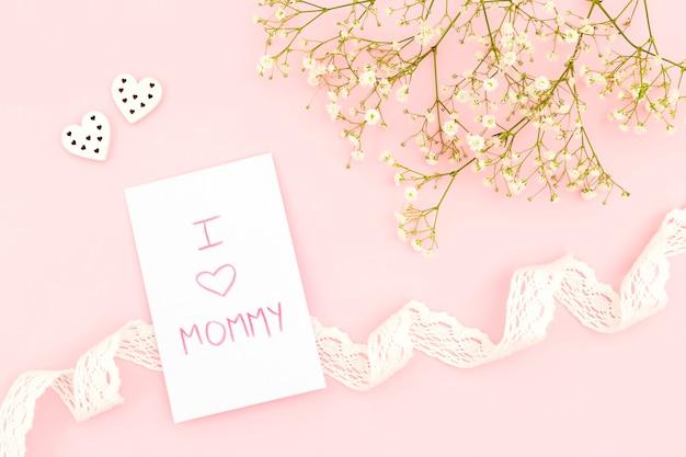 Vista superior del concepto del día de la madre