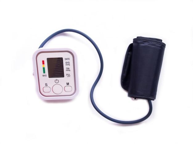 Vista superior del control de la presión arterial.