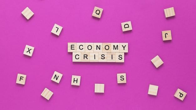Vista superior crisis económica