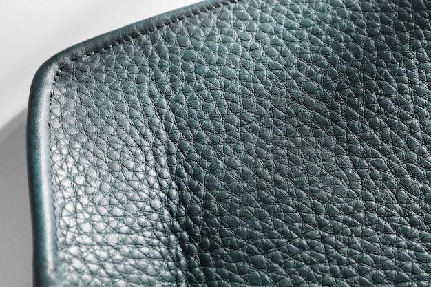 Vista superior de cuero con textura negra de primer plano