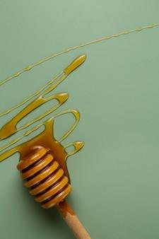 Vista superior deliciosa miel