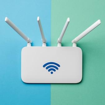 Vista superior del enrutador wi-fi