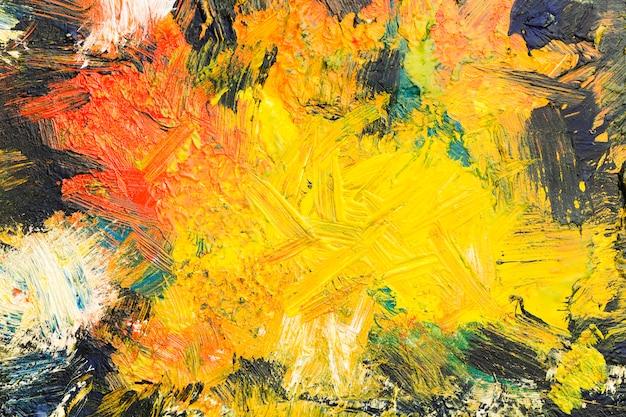 Vista superior espacio de copia artística pintura abstracta