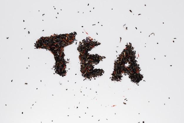 Vista superior de especias de té de hierbas