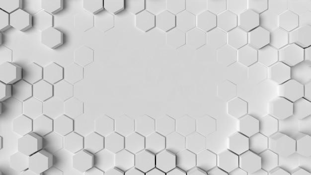 Vista superior de la estructura de fondo geométrico blanco