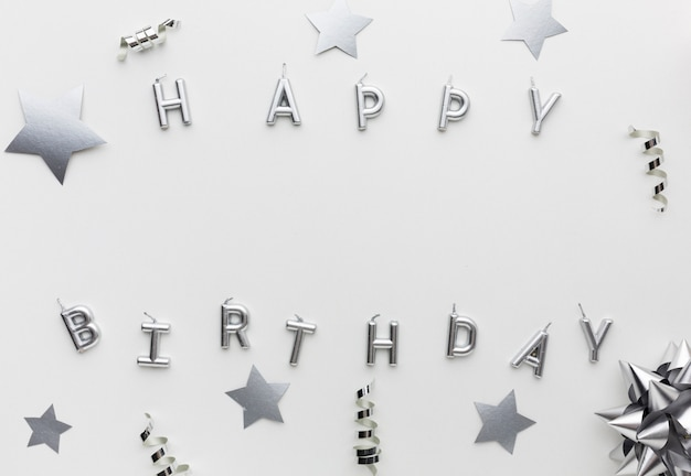 Vista superior feliz cumpleaños