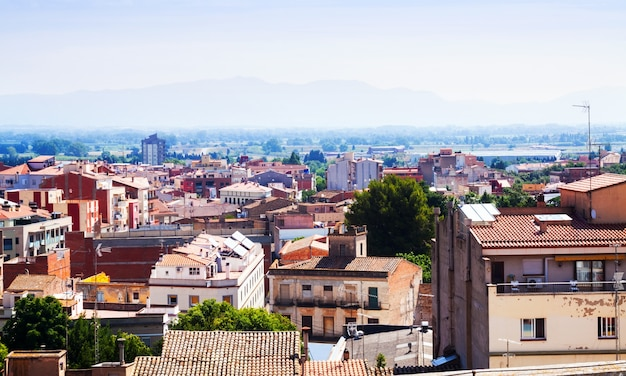Vista superior de figueres. cataluña
