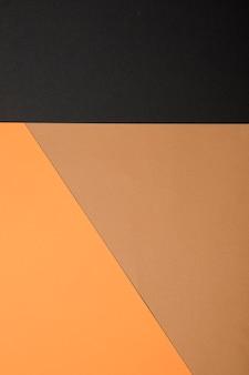 Vista superior fondo de colores otoñales