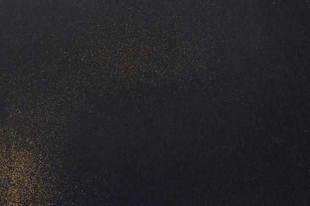 Vista superior fondo liso con detalles dorados
