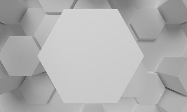 Vista superior de forma de espacio de copia de panal 3d de primer plano