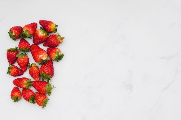 Vista superior fresas