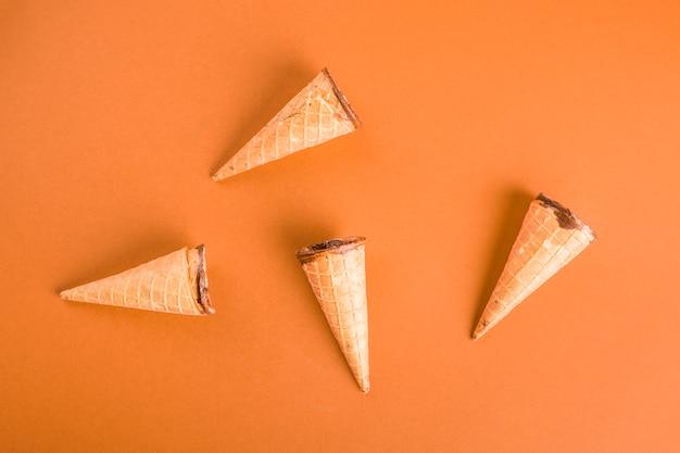 Vista superior galleta de helado