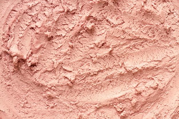 Vista superior helado monocromo