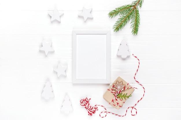 Vista superior de la hermosa decoración navideña