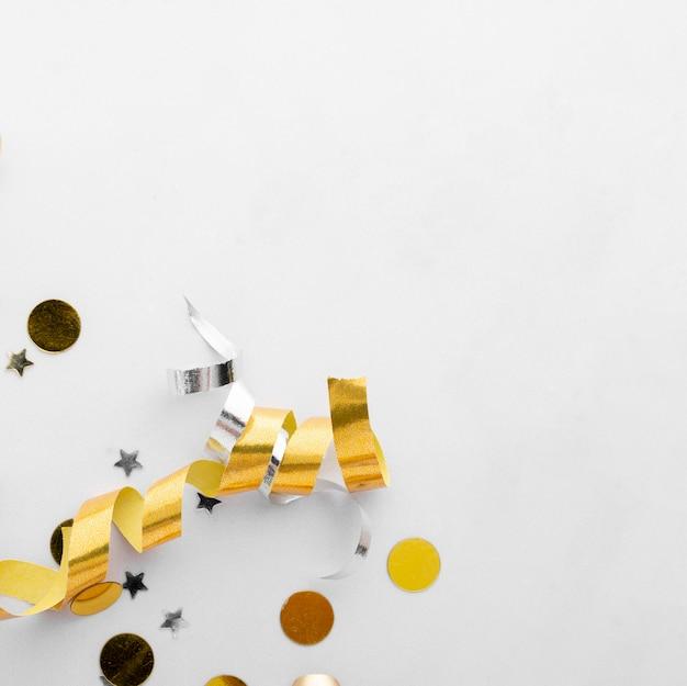 Vista superior del hermoso concepto de cumpleaños