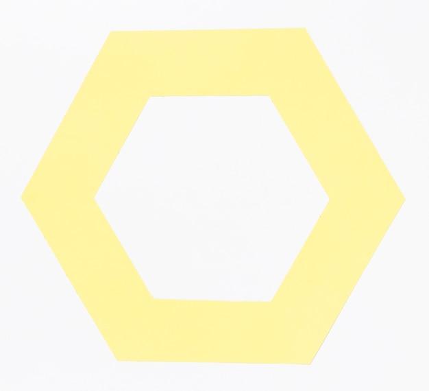 Vista superior hexágono de papel colorido