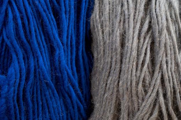 Vista superior de hilo para crochet