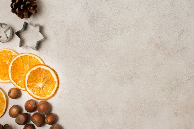 Vista superior de ingredientes orgánicos para cocinar