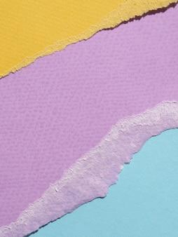 Vista superior líneas de papel abstracto rasgado