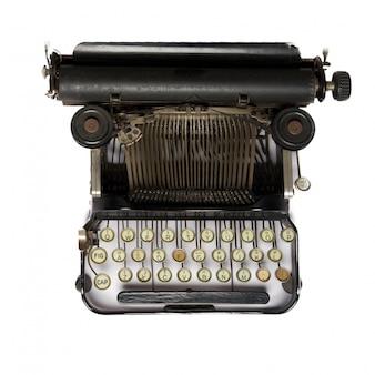 Vista superior de máquina de escribir