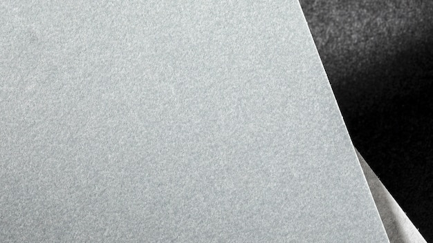 Vista superior del material texturizado gris