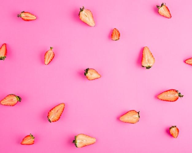 Vista superior medias fresas