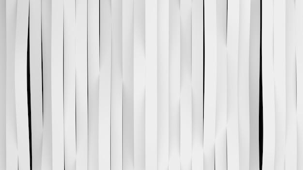 Vista superior de ondas de rayas blancas. superficie de bandas deformadas con luz suave. fondo brillante moderno